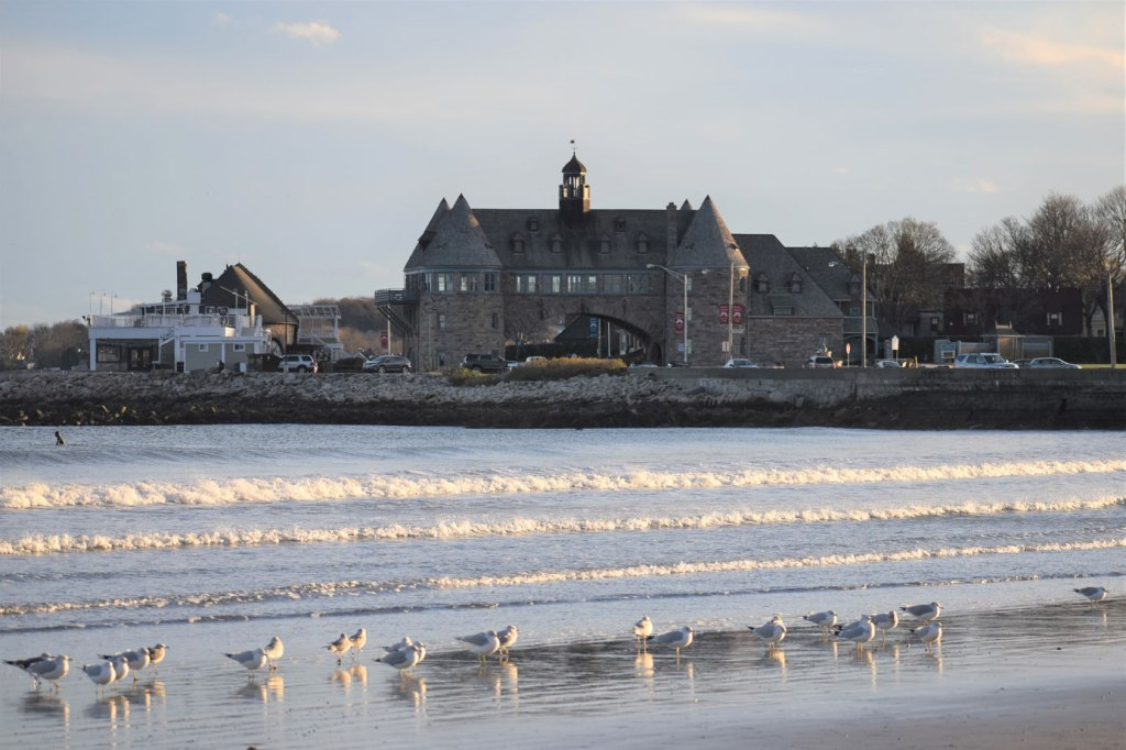 Image of Narragansett Town Beach view of Towers
