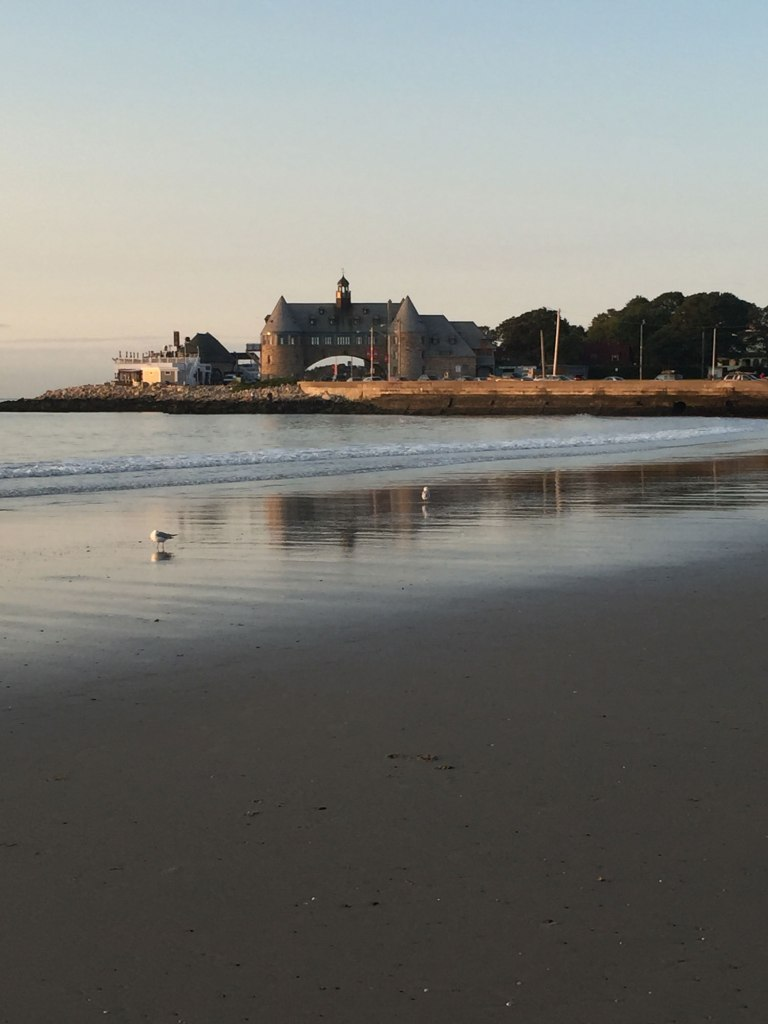 Image of Beach View of Narragansett Towers