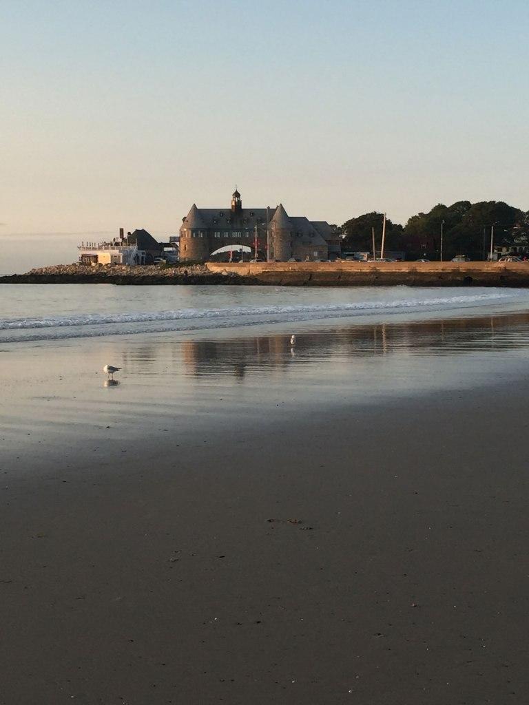 Image of Beach View of Narragansett Towers